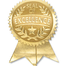 Seal of Excellence Foil Ribbon