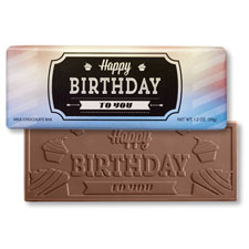 Happy Birthday Label Chocolate Bar