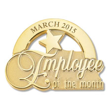 Gold Employee of the Month Pin