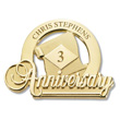 Commemorative Anniversary Pin Gold
