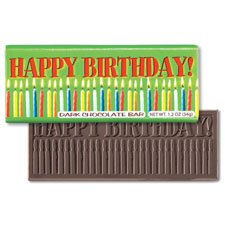 Happy Birthday Candles Dark Chocolate Bar