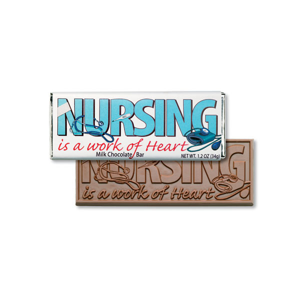 Nursing Is A Work Of Heart Chocolate Bar