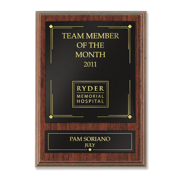Traditional Employee Recognition Plaque