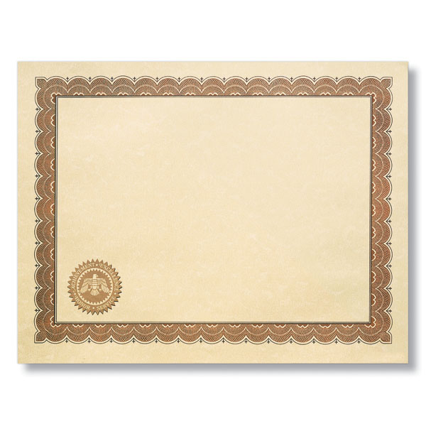 Parchment Award Certificates with Seal