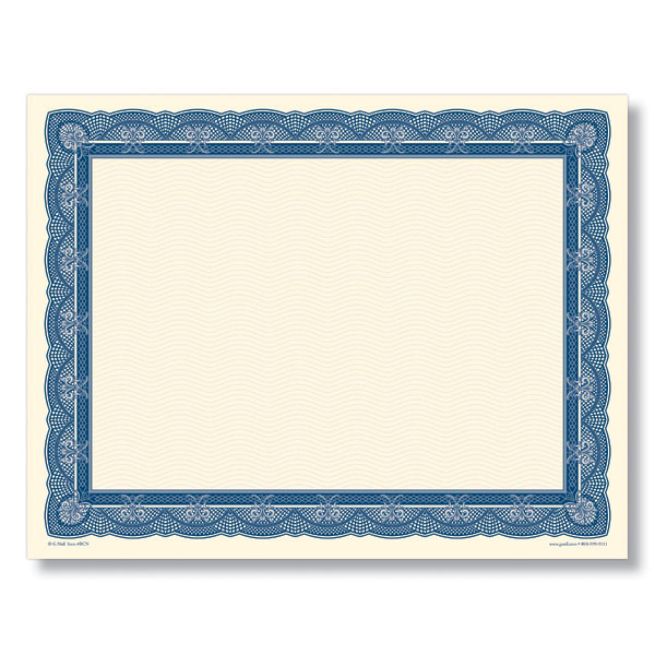 Navy and Cream Award Certificates