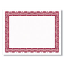 Burgundy and White Certificates