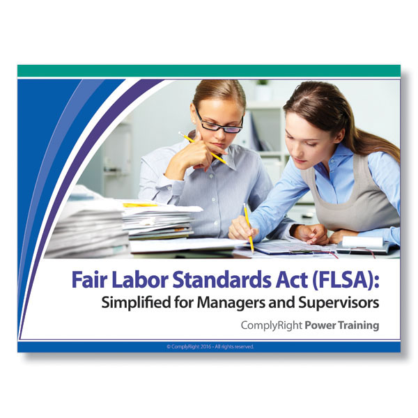 Fair Labor Standards Act -implified Training Program for Managers