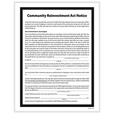 Picture of Community Reinvestment Act Poster