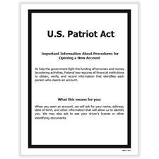 Picture of USA Patriot Act Poster