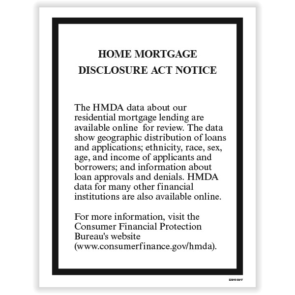 Picture of Home Mortgage Disclosure Act Poster