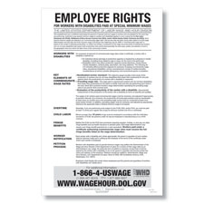 Picture of Notice to Workers with Disabilities Poster