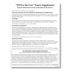 "Picture of ""EEO Is the Law"" Supplement & Pay Transparency Policy Poster"
