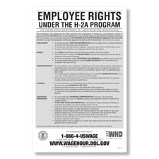 Picture of Employee Rights under the H-2A Program Poster