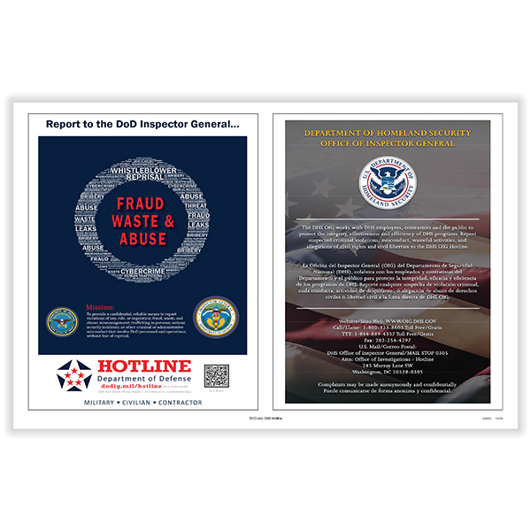 Picture of DOD and DHS Hotline Poster