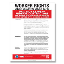 Picture of Federal Contractor Paid Sick Leave Poster