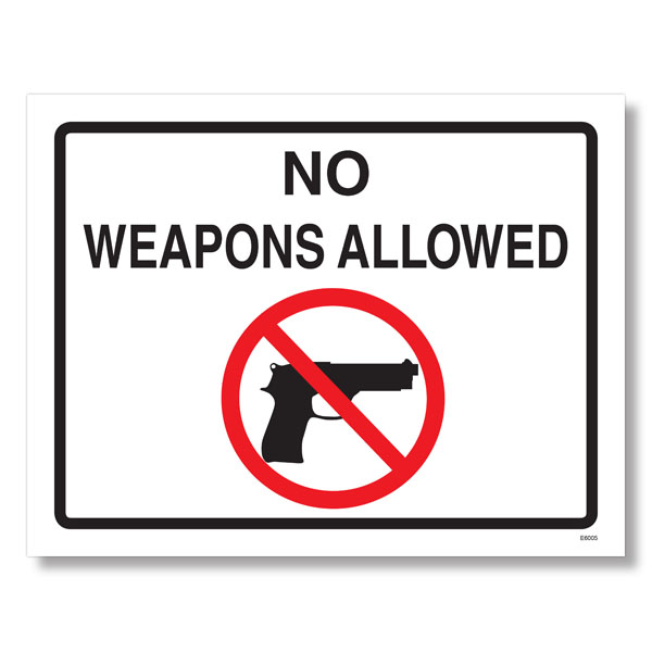Weapons Law Cling Poster