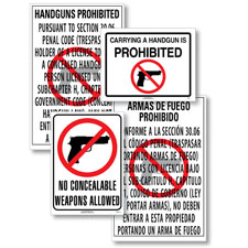 State Specific No Weapons Poster