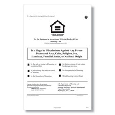 Picture of HUD Equal Housing Opportunity Poster