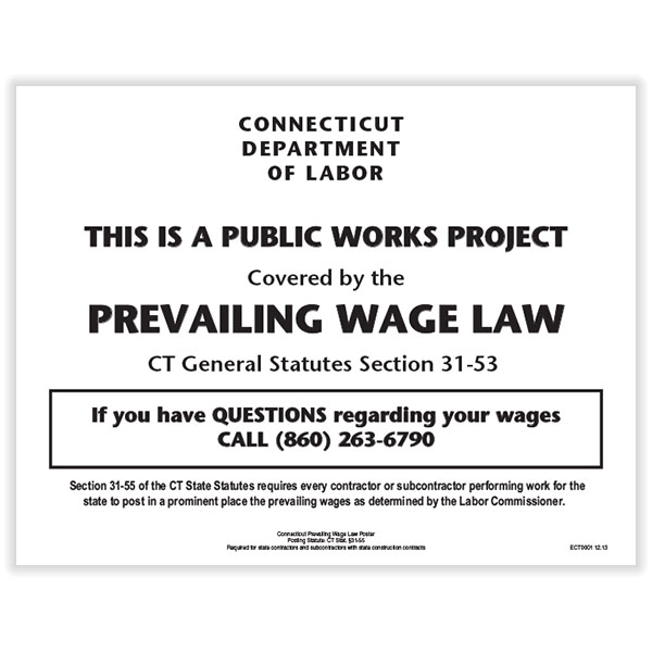 Picture of Connecticut Prevailing Wage Law Poster