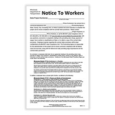 Picture of Minnesota Notice to Workers on Construction Projects Poster