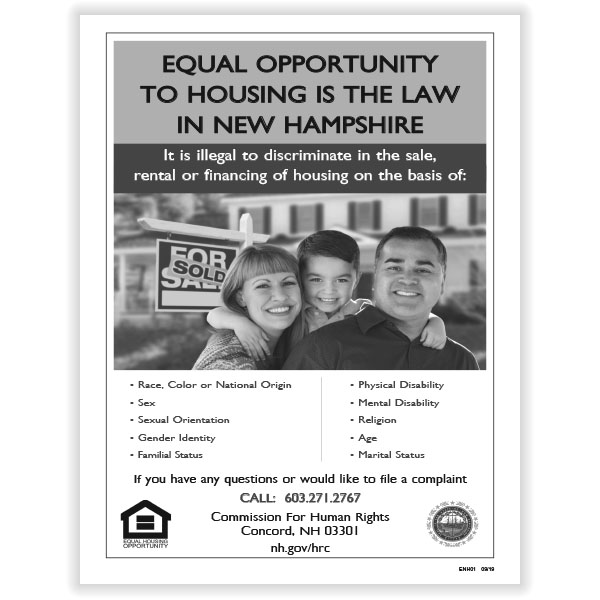 Picture of New Hampshire Fair Housing Poster