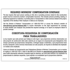 Picture of Texas Workers' Comp Coverage Poster/Notice to Workers on Construction Projects