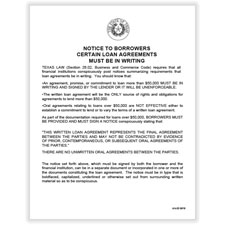 Picture of Texas Anti-Fraud Notice Poster
