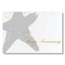 Gleaming Star Employee Anniversary Card