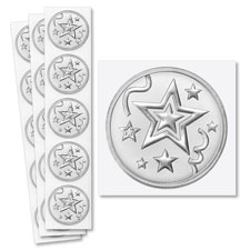 Picture of Silver Star Foil Seals
