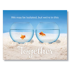 Gold Fish Togetherness Greeting Card