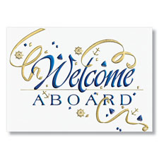 Welcome Aboard Card