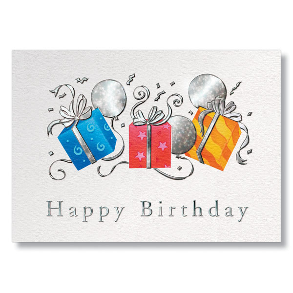 Trio of Gifts Birthday Card