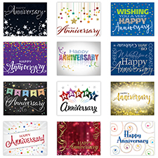 Picture of Personalized Employee Anniversary Card Assortment