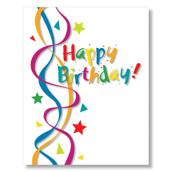 Cheerful Streamers Birthday Card