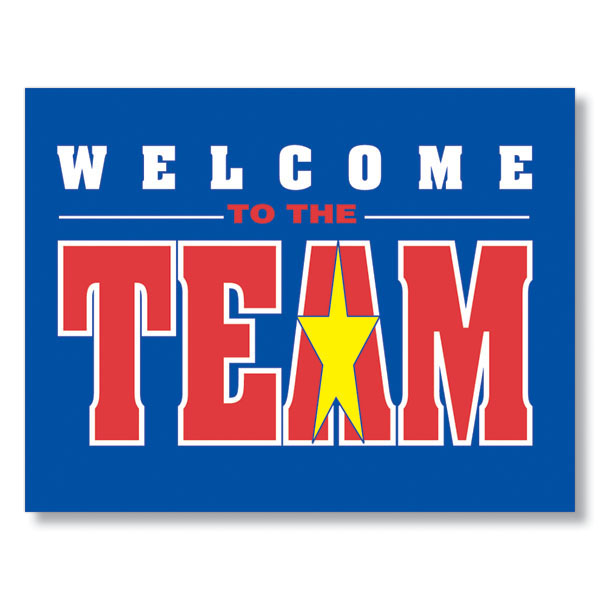Team Star Welcome Card