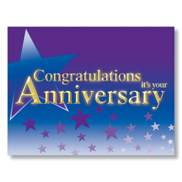 Shower Of Stars Anniversary Card