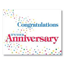Congratulations Confetti Anniversary Card