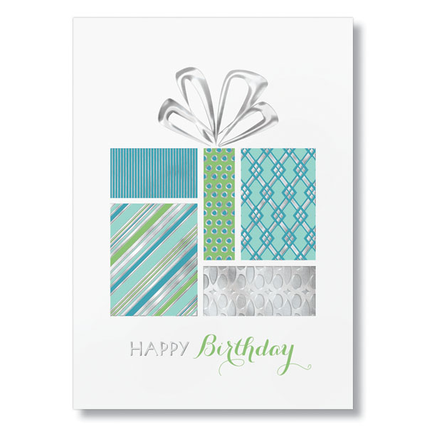 Stylish Patterned Gift Birthday Card