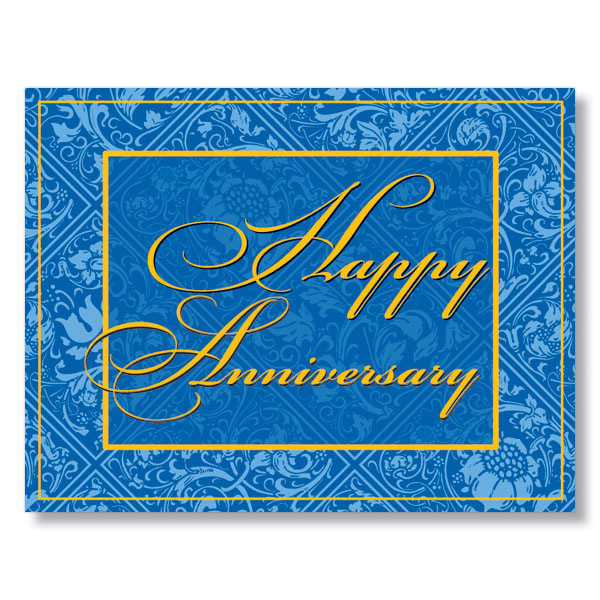 Elegant Happy Anniversary Card