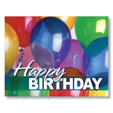 Bright Balloons Birthday Card
