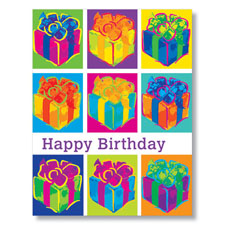 Pop Art Birthday Presents Card