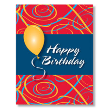 Birthday Swirling Celebration Card