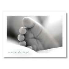Tiny Toes Congratulations Card