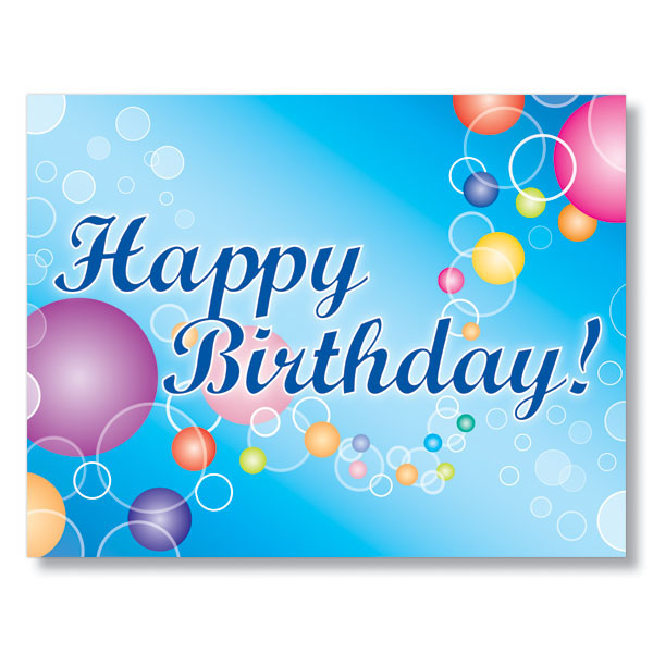 Color Drops And Rings Birthday Card