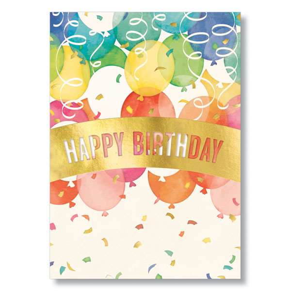 Picture of Birthday Banner and Balloons Card