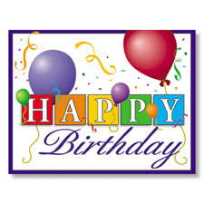 Happy Birthday Balloons Employee Birthday Card
