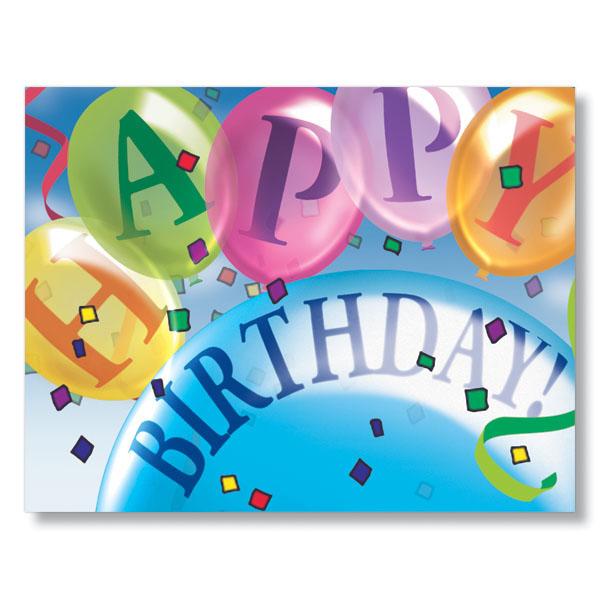 Balloon Wish Employee Birthday Card