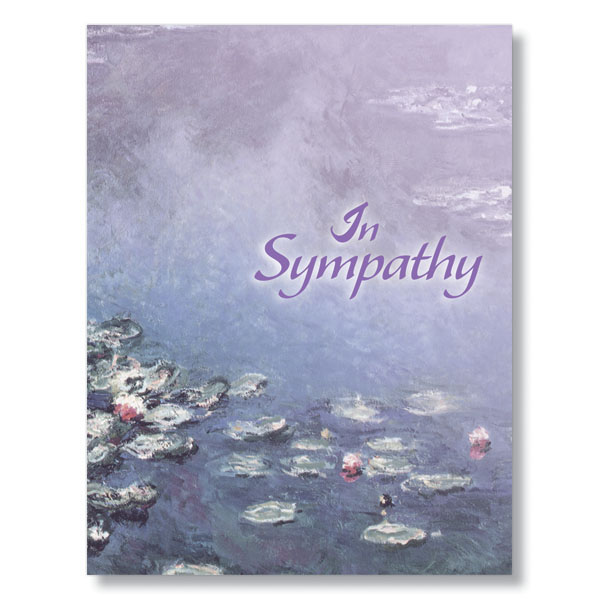 Lily Pads Sympathy Card