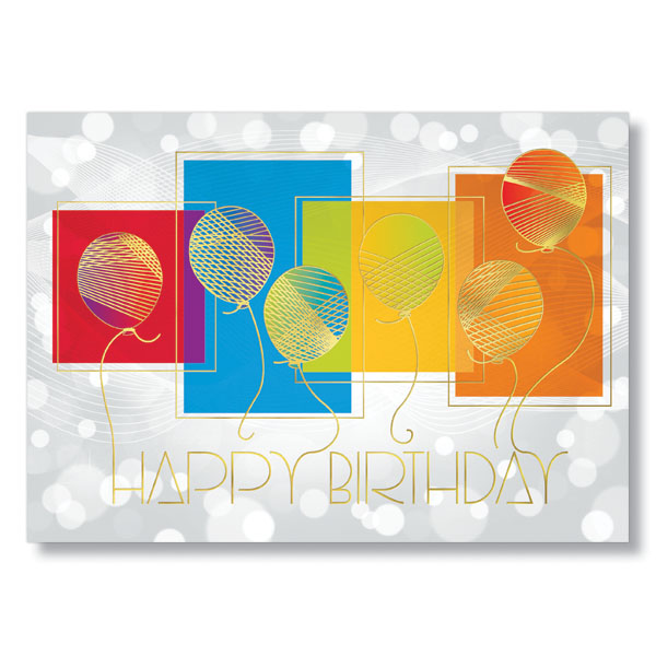 Rainbow Birthday Balloons Card