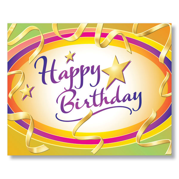 Vibrant Happy Birthday Card